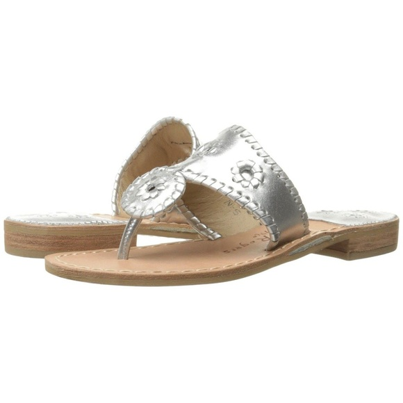Jack Rogers Hamptons Navajo Women/'s Sandals white platinum New With Box!